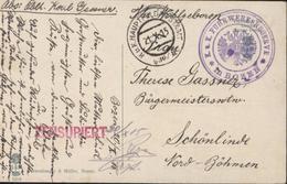 Guerre 14 CPA Dolomiten De Bozen Italie Cachet K U K Fuhr Werksreserve + Kuk Haupt Feld Postamt 21 X 15 + Zensuriert - Marcophilia