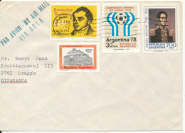 Argentina Cover Sent To Denmark 6-2-1981 With More Topic Stamps - Argentina