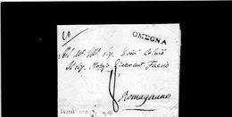 CG20 - Lett. Da Omegna X Romagnano 1/6/1821- Bollo Stampatello Diritto Nero + Segni Di Tassa - ...-1850 Préphilatélie