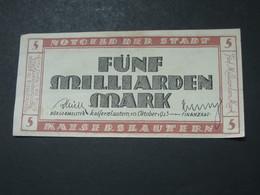 5 Funf Milliarden  Mark 1923 -  Reichsbanknote - Germany - Allemagne **** EN ACHAT IMMEDIAT **** - [ 3] 1918-1933 : República De Weimar