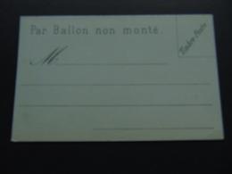 Carte Postale Privée Créée Pour L'envoi De Brèves Correspondances Par Ballons Non Montés (guerre De 1870) - Enteros Privados
