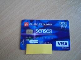 CARTE A PUCE BANCAIRE PERIMEE BANQUE CAISSE D'EPARGNE AVEC BEAU VISUEL JEUX OLYMPIQUE FRANCE !!! - France