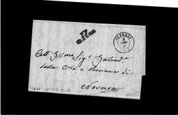 CG20 - Lett. Da Oleggio X Novara 3/9/1849- Bollo Lin.nero Con P.P. Mm. 25 Tipo 4° + Doppio Cerchio Sardo - Italia