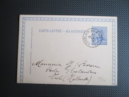Helm - Carte-Lettre/Kaartbrief Gestempeld In Comblain-au-Pont Maar Niet Verstuurd - 1919-1920 Roi Casqué