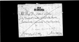 CG20 - Lett. Da Oleggio X Novara 1849 -  Bollo Stampatello Diritto Nero Con P.P. - Italia