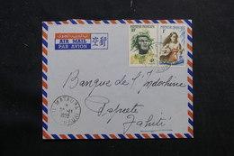 POLYNÉSIE - Enveloppe  De Mataura En 1959 Pour Papeete, Affranchissement Plaisant - L 55969 - Briefe U. Dokumente