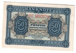 GERMANY EAST DDR50PFENNIG1948P8UNC7 Digits S/N - 8B.CV. - 50 Deutsche Pfennig