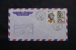 POLYNÉSIE - Enveloppe De Papeete En 1962, Affranchissement Plaisant - L 55972 - Briefe U. Dokumente