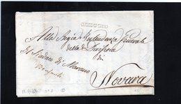 CG20 - Lett. Da Oleggio X Novara 15/9/1832-  Bollo Stampatello Diritto Nero - Italia