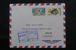 POLYNÉSIE - Enveloppe De Papeete En 1962 Pour Paris, Affranchissement Plaisant - L 55973 - Briefe U. Dokumente