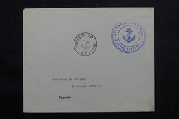 POLYNÉSIE - Enveloppe En FM De Papeete En 1963 Pour Papeete, Cachet Ancre De Marine - L 55974 - Briefe U. Dokumente