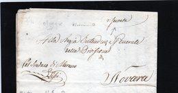 CG20 - Lett. Da Oleggio X Novara 29/4/1834 -  Bollo Stampatello Nero  - Riservata - Italia