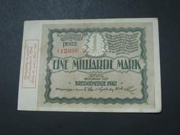 1 Eine Milliarden  Mark 1923 -  Reichsbanknote - Germany - Allemagne **** EN ACHAT IMMEDIAT **** - [ 3] 1918-1933 : Repubblica  Di Weimar