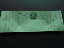 Formulaire Officiel émis Durant La Guerre De 1870 Pour Envoi De Correspondances Par Ballons Montés - Official Stationery
