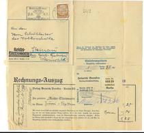 DR Rechunung EF Reichs Elternwarte + Einlieferungsschein Stp Reichswettkampf Berlin 1936 - Occupation 1938-45