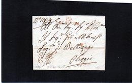 CG20 - Lett. Da Oleggio X Bellinzago 1824 - -  Bollo Stampatello Diritto Rosso + P.P.. - Italia