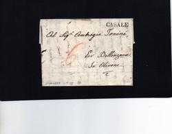 CG20 - Lett. Da Casale X Olivone 1829 - Bollo Stampatello Diritto Nero Senza Data - Italia