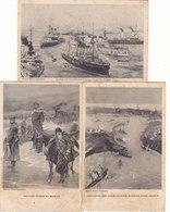 GUERRE RUSSO-JAPONAISE 1904-1905.:6 CPA DIFFERENTES.CERTAINES T.RARE.ETAT MOYEN( TACHES).petit Prix A Saisir - Andere Kriege