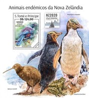 S. TOME & PRINCIPE 2020 - New Zealand Endemic Fauna S/S. Official Issue [ST200213b] - Kiwi
