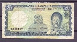 Tanzania 20  Shillings Fine - Bankbiljetten
