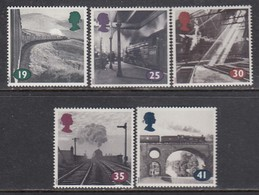 Great Britain 1994 Steam Trains, Set Of 5 Stamps, MNH** - 1952-.... (Elisabeth II.)