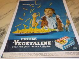ANCIENNE PUBLICITE  2 FOIS PLUS LEGERE VEGETALINE 1961 - Affiches