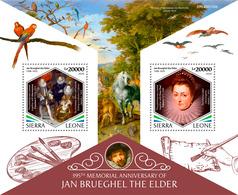SIERRA LEONE 2020 - J. Brueghel, Owl S/S. Official Issue [SL200105b] - Búhos, Lechuza