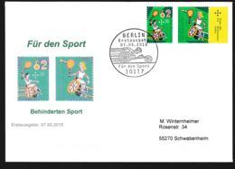 Germany FDC 2015 Handisport (DD23-42) - Handisport