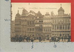 CARTOLINA NV BELGIO - BRUXELLES - Grand Place - Maisons Des Corporations - 9 X 14 - Monumenti, Edifici