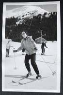 Verbier Skifahrerin/ Fotokarte Ca.1950 - VS Valais