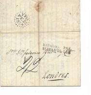 SH 0381. LAC Datée De MADRID 8 Février 1834 - GFF ESPAGNE PAR/St JEAN DE LUZ V. LONDRES - Cach. Suédois FPO/FE 25/183x. - ...-1850 Voorfilatelie