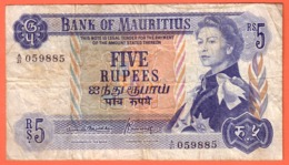 MAURITIUS , MAURICE - 5 Rupees Du 31 12 1972 - Pick 30b - Maurice