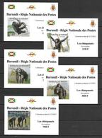 Burundi 2012 Animals - Chimpanzees 5 IMPERFORATE MS MNH - Zonder Classificatie