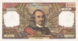 100 Francs Corneille -1964 -P 42 Ce Billet A Circulé  - Vendu En L'etat - 1962-1997 ''Francs''