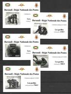 Burundi 2012 Animals - Gorillas 5 IMPERFORATE MS MNH - Zonder Classificatie