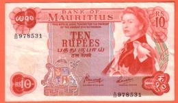 MAURITIUS , MAURICE - 10 Rupees Du 09 06 1982 - Pick 31c - Maurice