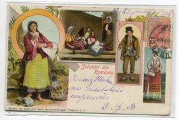 ROUMANIE Salutari Din Romania Costumes Edit Ad Maier S Stern  - écrite 1904 Timbrée  D05 2020 - Roumanie