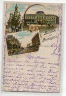 ROUMANIE Salutari Din  BUCURESCI  Multivues écrite 1904 Timbrée   D05 2020 - Roumanie
