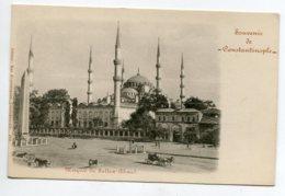 TURQUIE Souvenir De CONSTANTINOPLE Mosquée  Sultan AHMED  No 406 Edit Max Fruchtermann - 1900  D05 2020 - Turchia