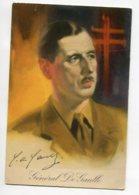 MILITARIA  Portrait Général De Gaulle Vers 1940 Edit  J Henzen Samemo   D05 2020 - Guerre 1939-45