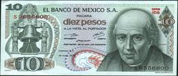 MEXICO - 10 Pesos 15.05.1975 {Series 1DQ-1DU} AU-UNC P.63 H(3) - Mexico