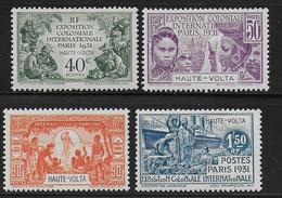 EXPO 31 - HAUTE VOLTA - YVERT N°66/69 * MH CHARNIERE PROPRE - COTE = 24 EUROS - - 1931 Exposition Coloniale De Paris