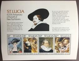St Lucia 1977 Rubens Minisheet MNH - St.Lucia (...-1978)