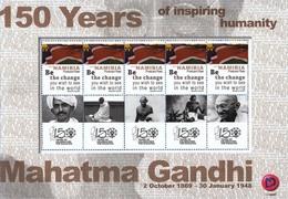 Namibia 2019 Mahatma Gandhi - Miniature Sheet - 150 Years Of Inspiring Humanity Beautiful Postcard Rate Stamps ,  MNH - Mahatma Gandhi