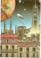 VEYRI  BERNARD  CARTE REALISE POUR LE CERCLE CARTOPHILE BORDELAIS 1989 - Veyri, Bernard