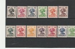 DAHOMEY**LUXE  TAXE N° 19/31 COTE 11.85 - Dahomey (1899-1944)