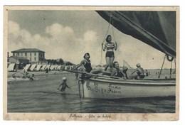 4451 - BELLARIA GITA IN BARCA ANIMATA DONNE 1930 CIRCA RIMINI - Italia