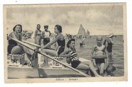 4452 - BELLARIA SPIAGGIA ANIMATA DONNE 1930 CIRCA RIMINI - Italia