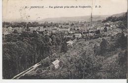 JOINVILLE. CP Voyagée En 1935 Vue Générale Prise Côté Vecqueville (gros Pli Voir Scan) Beau Timbre Taxe 30 Centimes - Joinville