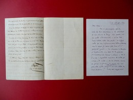 Autografo Girolamo Napoleone II Bonaparte Lettera Toul 25 Settembre 186 - Autographes